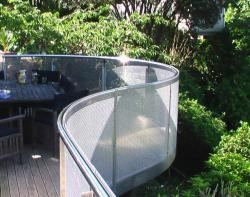 Stainless steel balcony surround